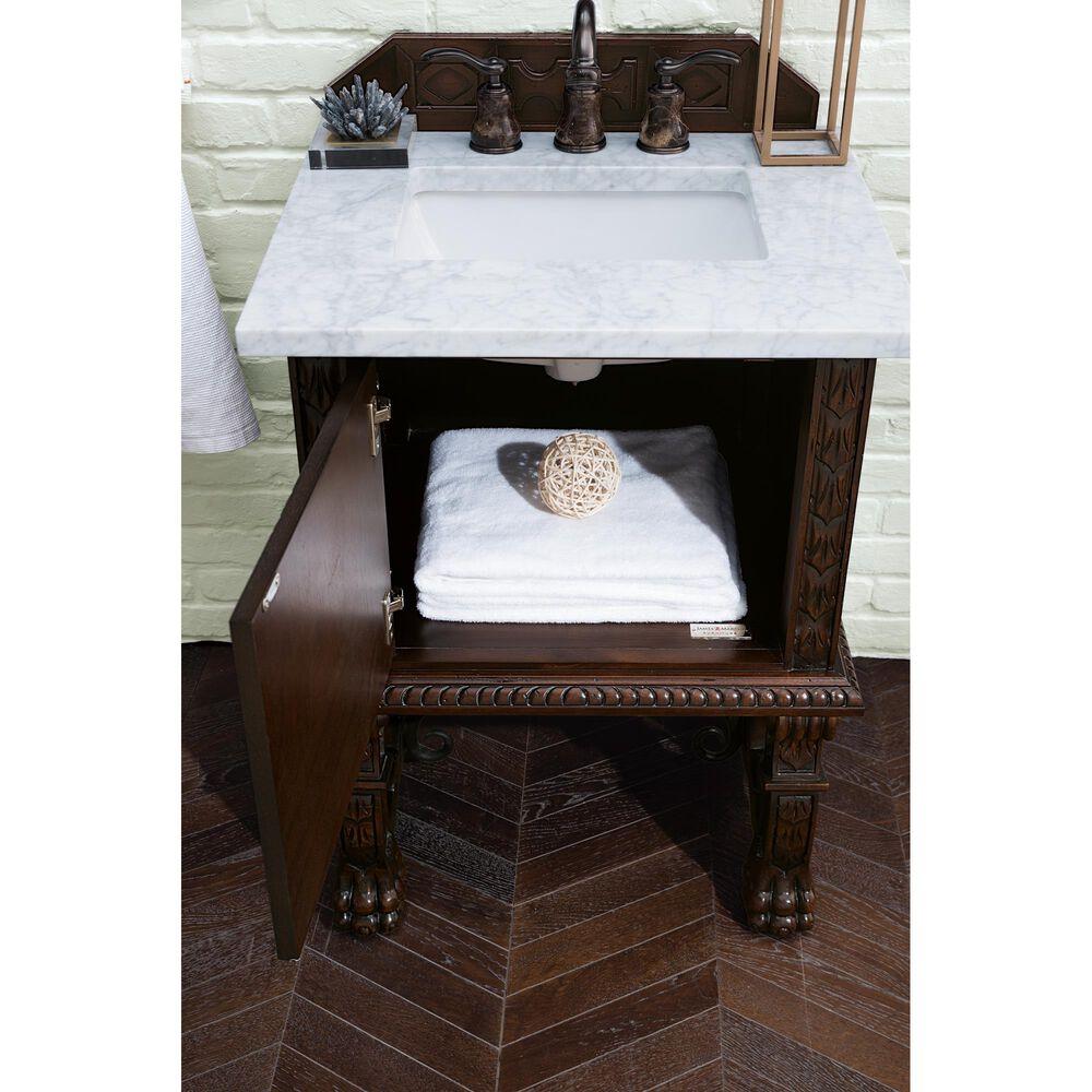 "James Martin Balmoral 26"" Single Bathroom Vanity Cabinet in Antique Walnut, , large"