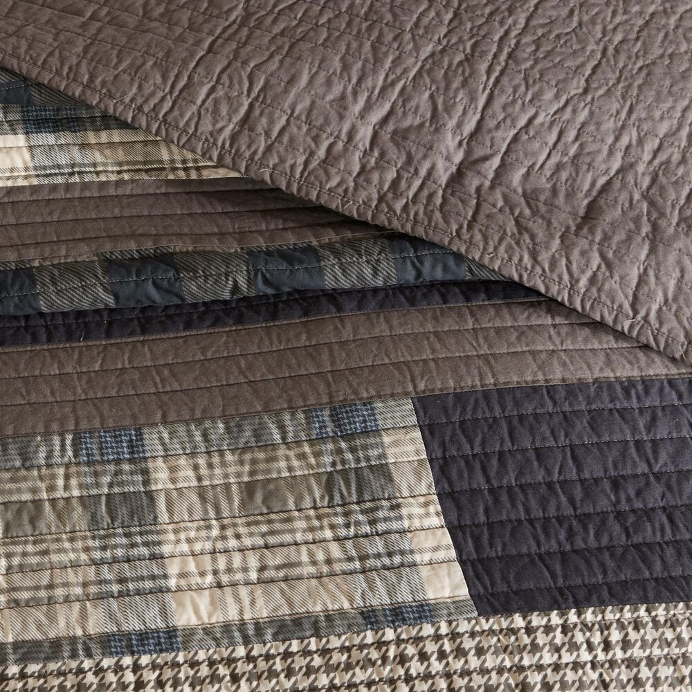 Hampton Park Winter Plains 3-Piece Full/Queen Quilt Set in Taupe, , large
