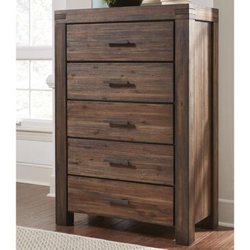Urban Home Meadow Chest in Brick Brown, , large