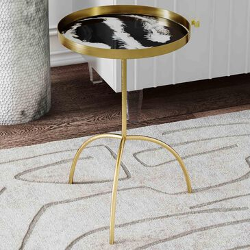 Tov Furniture Accent Table in White/Black, , large