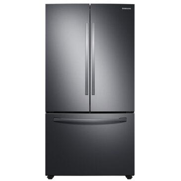 Samsung 28 Cu. Ft. Large Capacity 3-Door French Door Refrigerator with Internal Water Dispenser in Black Stainless Steel , , large