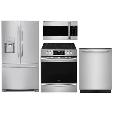 Frigidaire Gallery 4-Piece Kitchen Package with Slide In Electric Range - Stainless Steel , , large