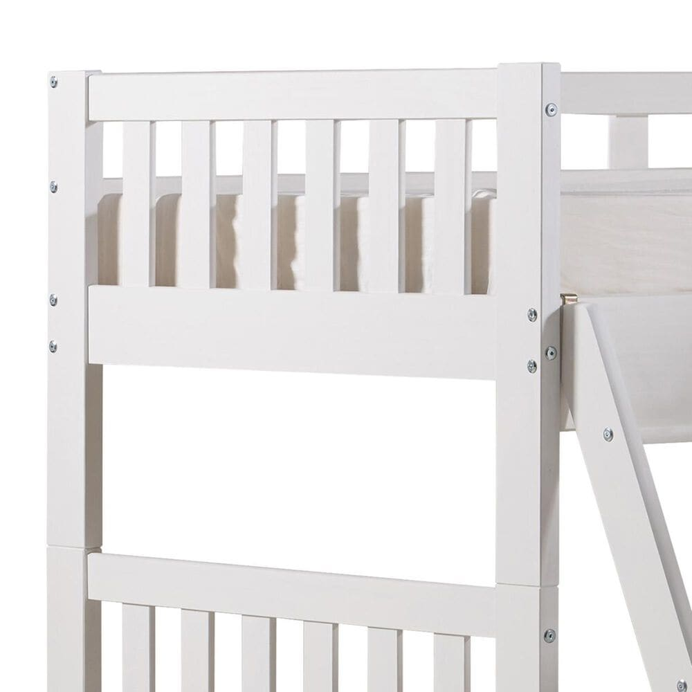 Bolton Furniture Aurora Twin over Full Bunk Bed with Tri-Bunk Extension in White, , large