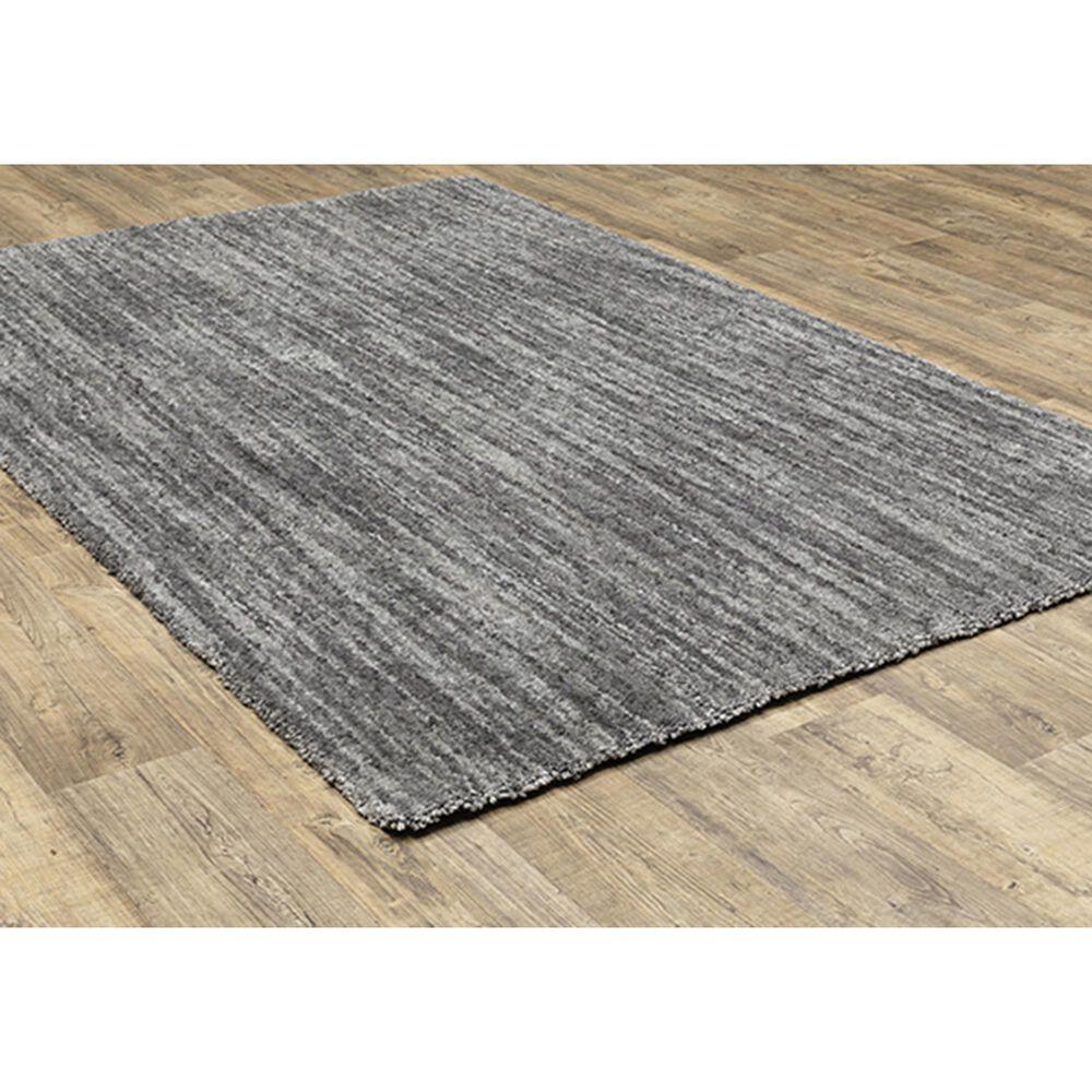 "Oriental Weavers Aspen Shag Distressed 829E9 7'10"" x 10'10"" Gray Area Rug, , large"