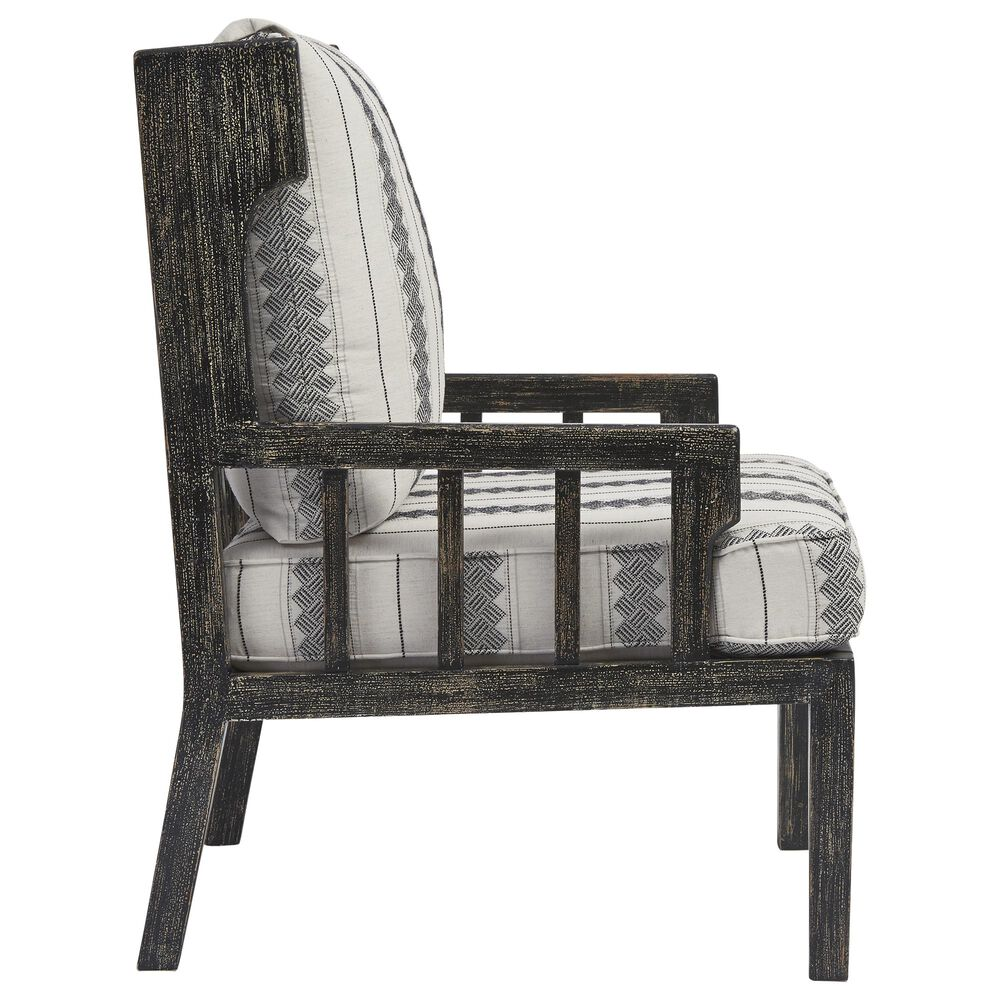 Signature Design by Ashley Kelanie Accent Chair with Ivory and Black Cushion in Onyx, , large
