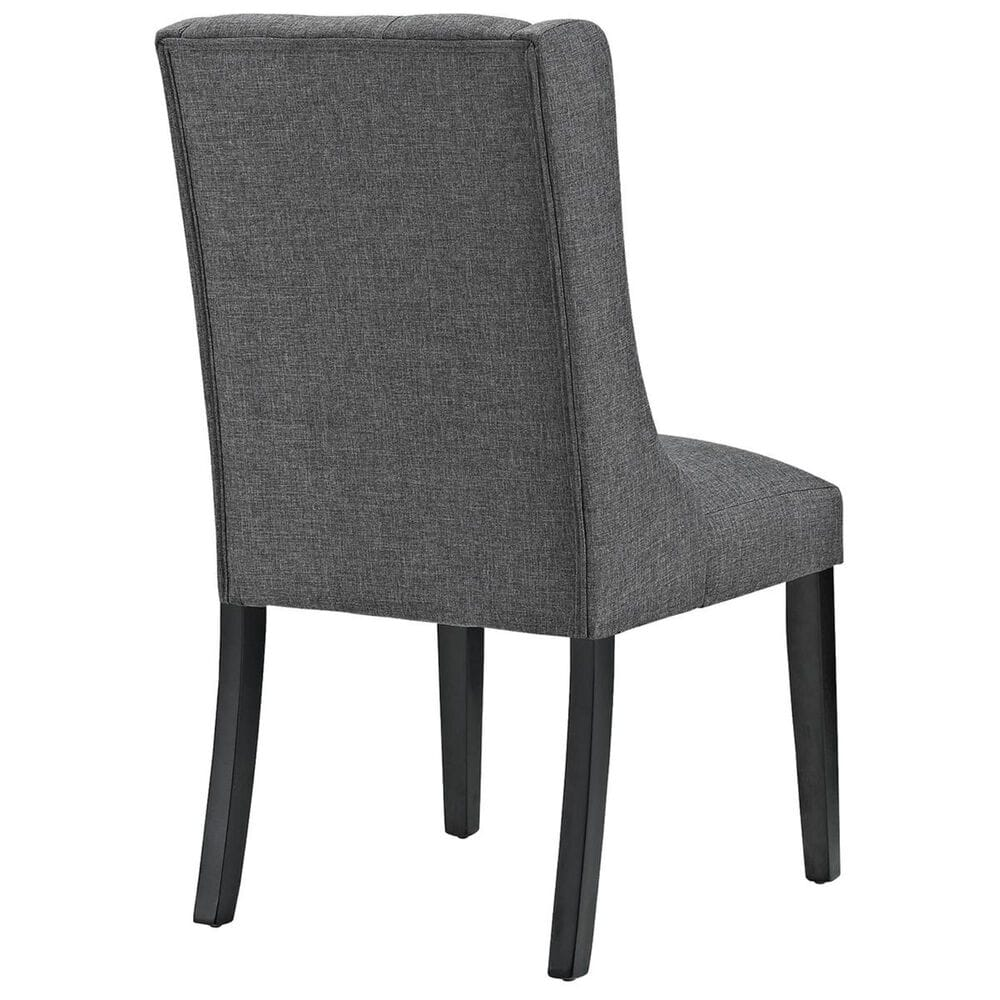 Modway Baronet Fabric Dining Chair in Gray, , large