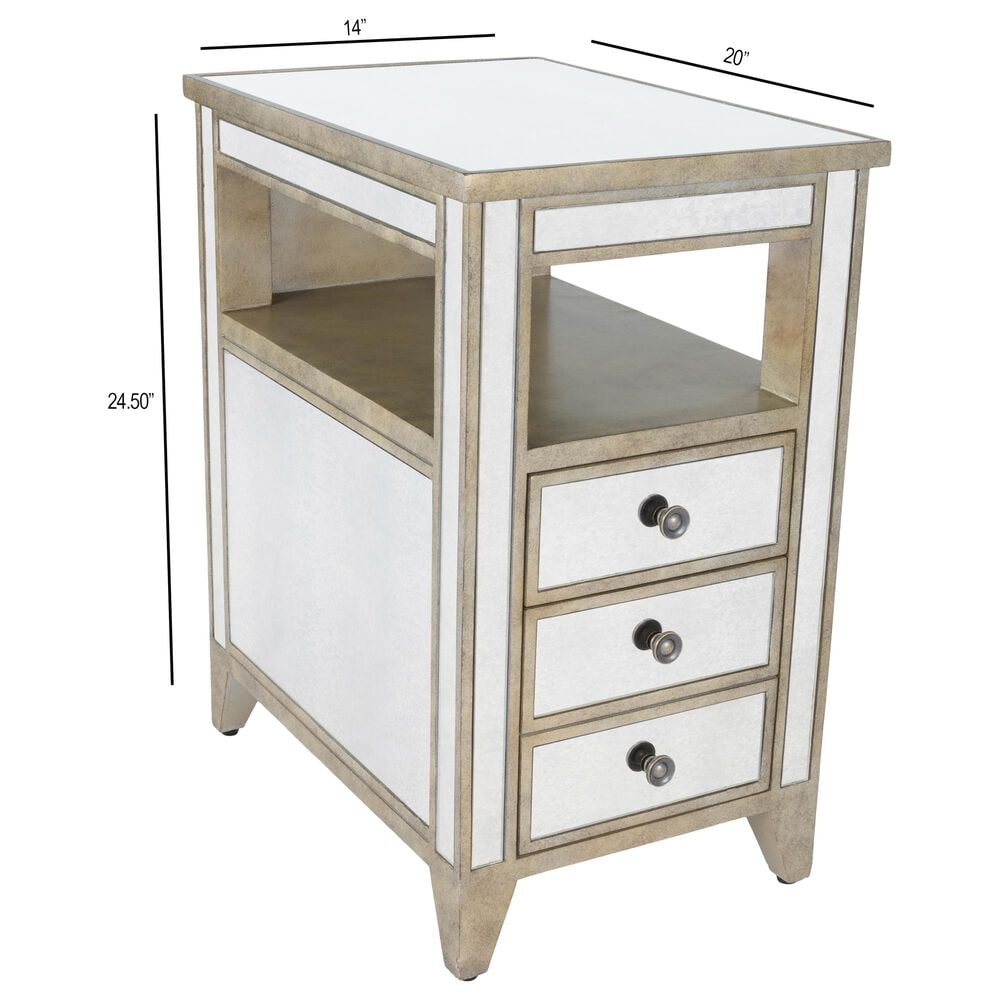 Butler Banes Chairside Table in Silver, , large