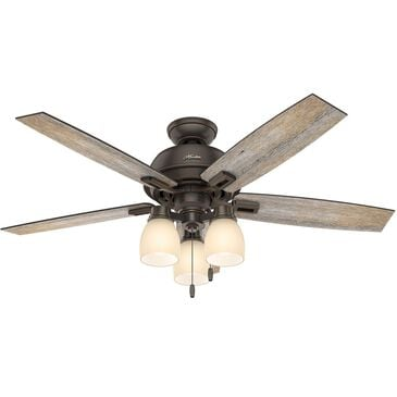 "Hunter Donegan 52"" Ceiling Fan with Light Kit in Onyx Bengal, , large"