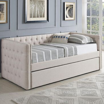 Claremont Trina Daybed with Trundle in Beige, , large