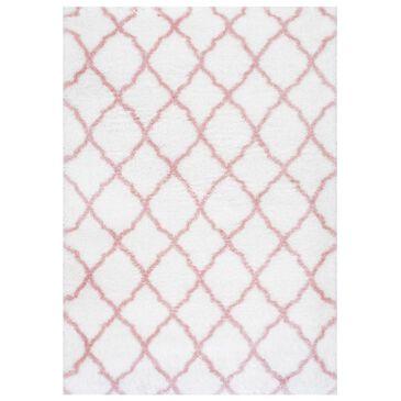 "nuLOOM Airy Shag OZAS03B-6709 6'7"" x 9' Baby Pink Area Rug, , large"