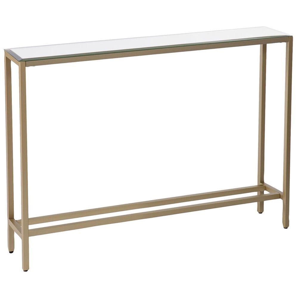 """Southern Enterprises Darrin 36"""" Console Table with Mirrored Top in Gold, , large"""