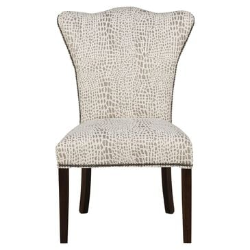 Tara Home Patterned Parsons Chair in White and Gray, , large