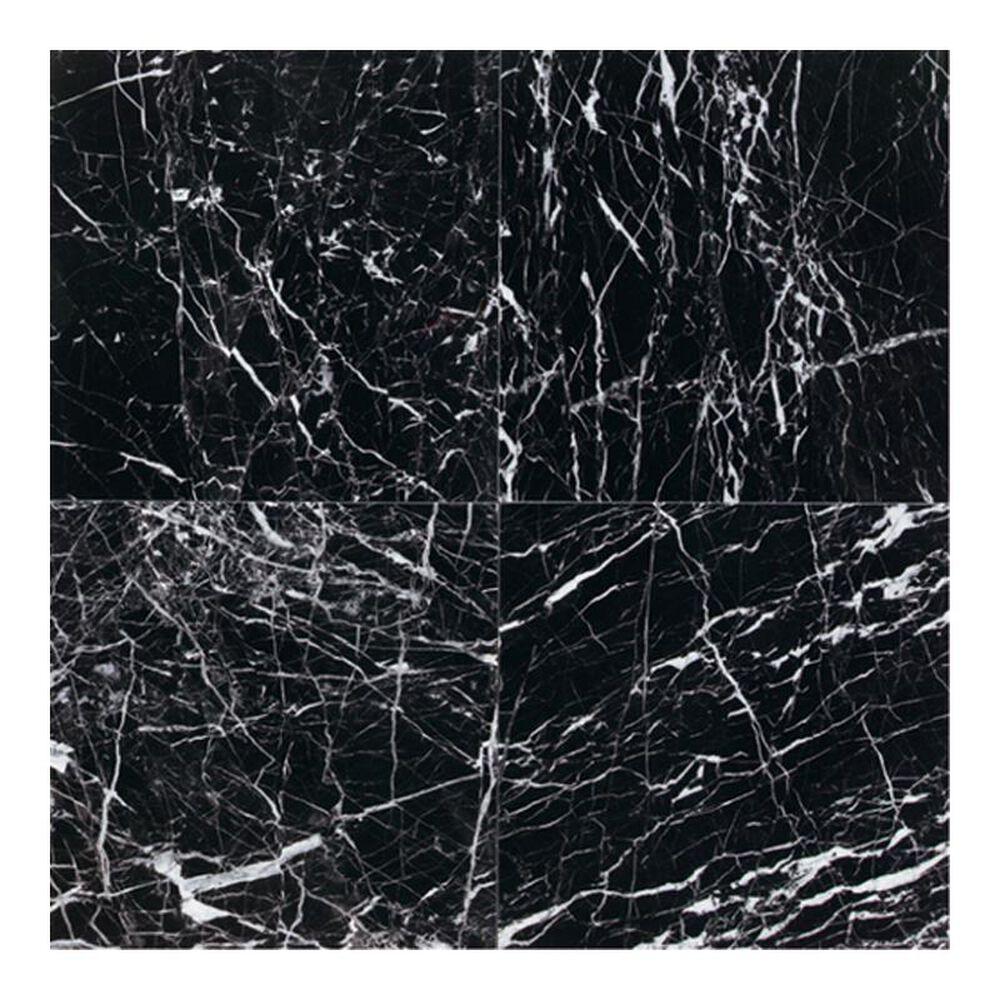 "Dal-Tile Marble China Black 12"" x 12"" Polished Natural Stone Tile, , large"