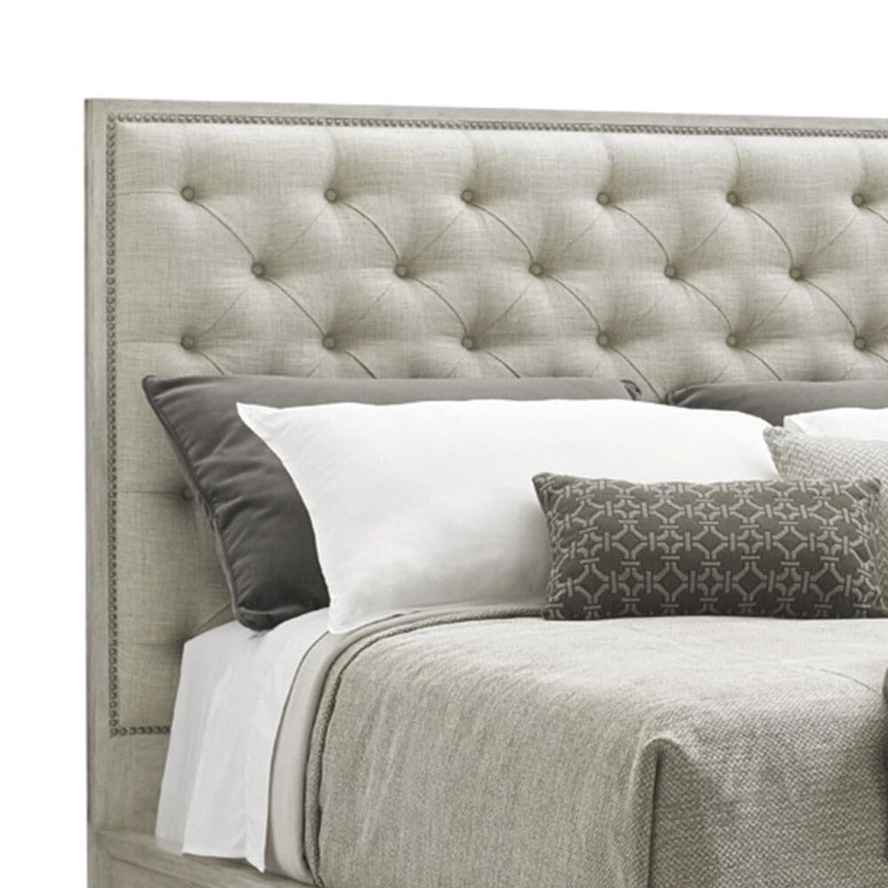 Lexington Furniture Oyster Bay Sage Harbor Queen Tufted Headboard in Cream, , large