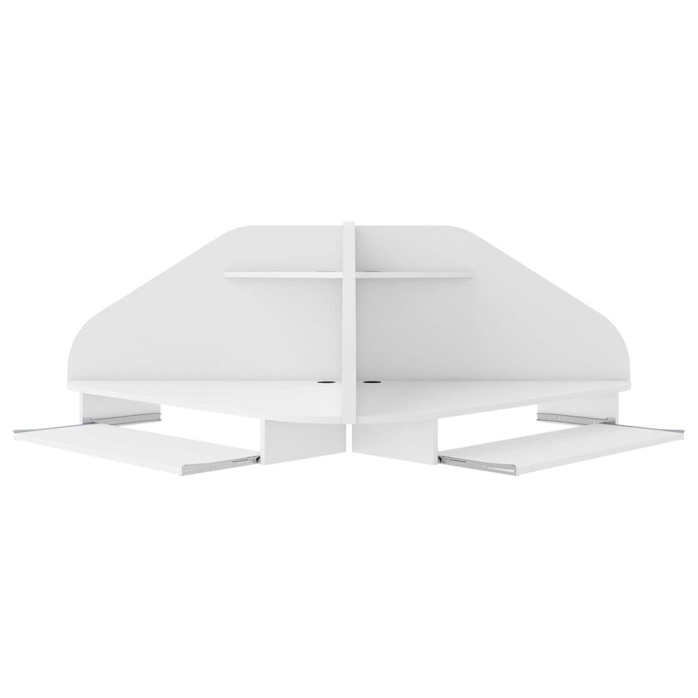 Dayton Bradley 2-Piece Cubicle Section Desk in White, , large