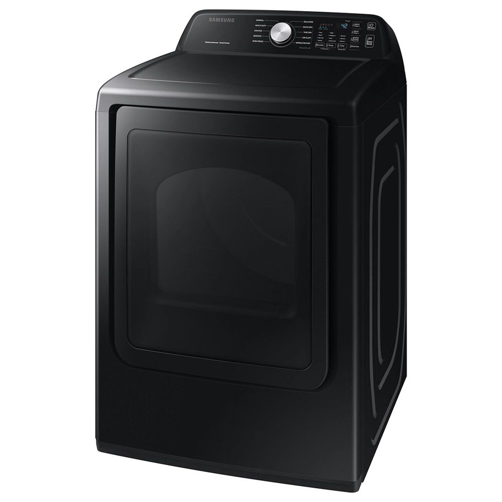 Samsung 4.4 Cu. Ft. Top Load Washer with Active Wave Agitator and 7.4 Cu. Ft. Gas Dryer Laundry Pair with Sensor Dry and Smart Care in Black Stainless Steel, , large