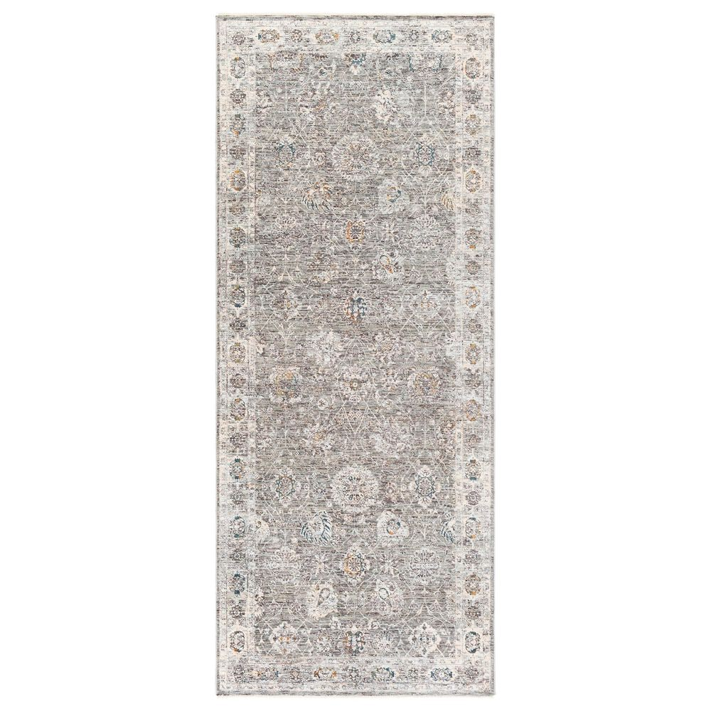 """Surya Presidential PDT-2307 3""""3"""" x 8"""" Gray and Orange Area Rug, , large"""