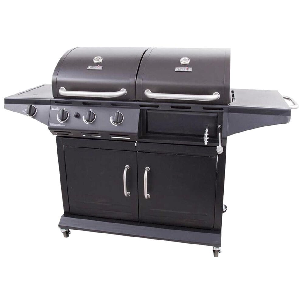 Char-Broil Deluxe Liquid Propane and Charcoal Combo Grill in Black, , large
