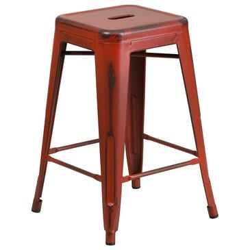 "Flash Furniture 24"" Counter Stool in Red, , large"