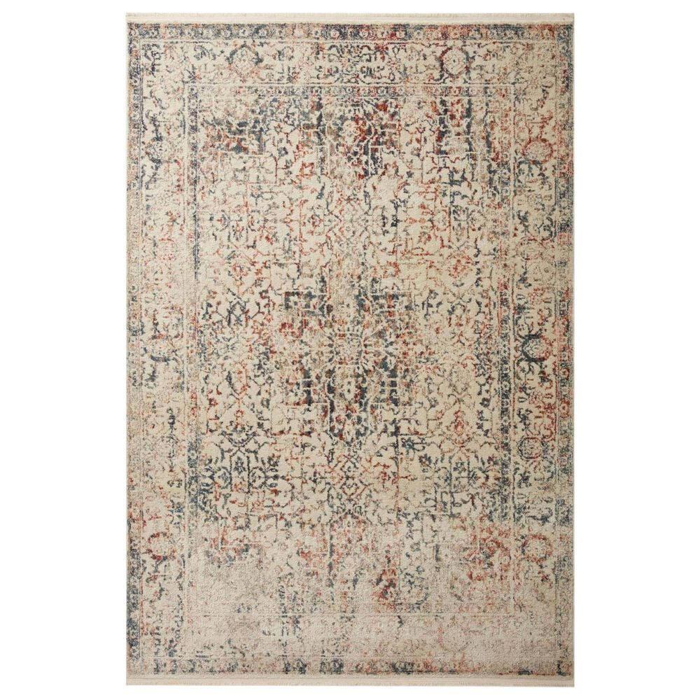 """Magnolia Home Janey JAY-04 5'3"""" Round Multicolor Area Rug, , large"""