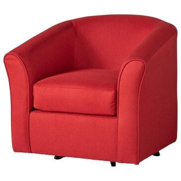 Hughes Furniture Swivel Chair in Jitterbug Red, , large