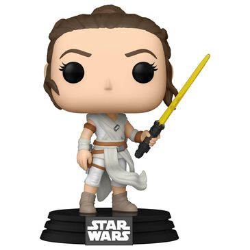 Funko Pop! The Rise of Skywalker - Rey with Yellow Lightsaber, , large