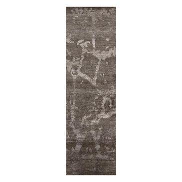 "Nourison Silk Shadows SHA02 2'3"" x 8' Brown Runner Rug, , large"