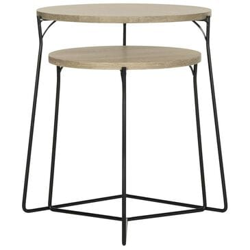 Safavieh Ryne Retro Stacking End Table in Light Brown, , large