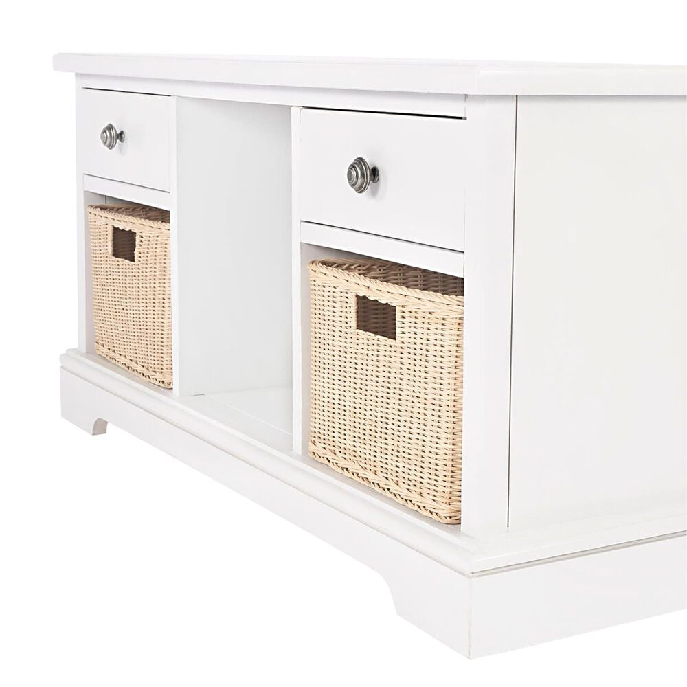 Butler Asya Storage Bench in White, , large
