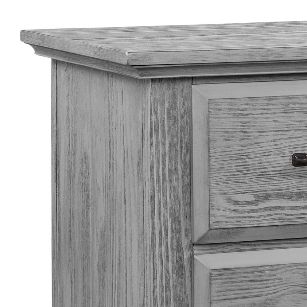 Oxford Baby Willowbrook 2 Drawer Nightstand in Graphite Gray, , large