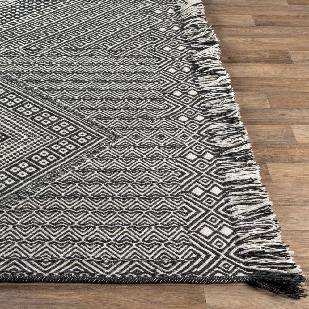 "Surya Zanafi ZNF-2303 8'10"" x 12' Black and Ivory Area Rug, , large"