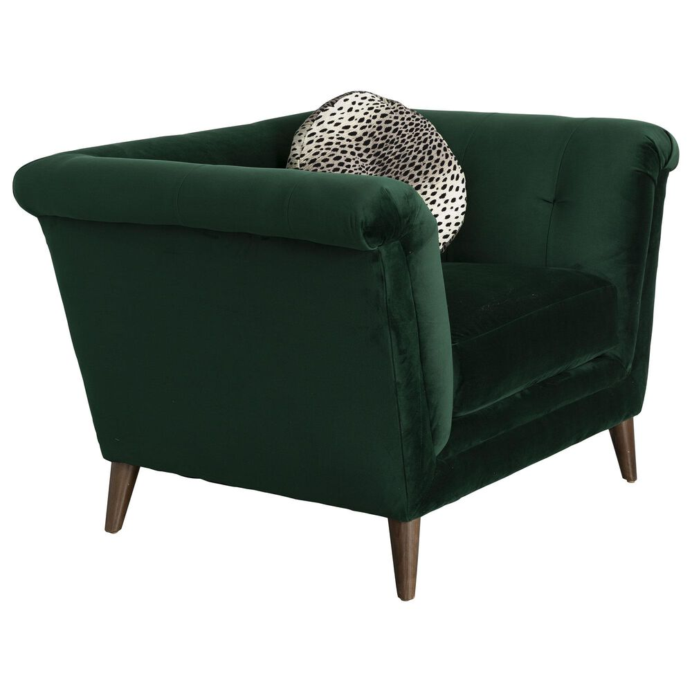 Moda Camila Arm Chair in Royale Evergreen, , large