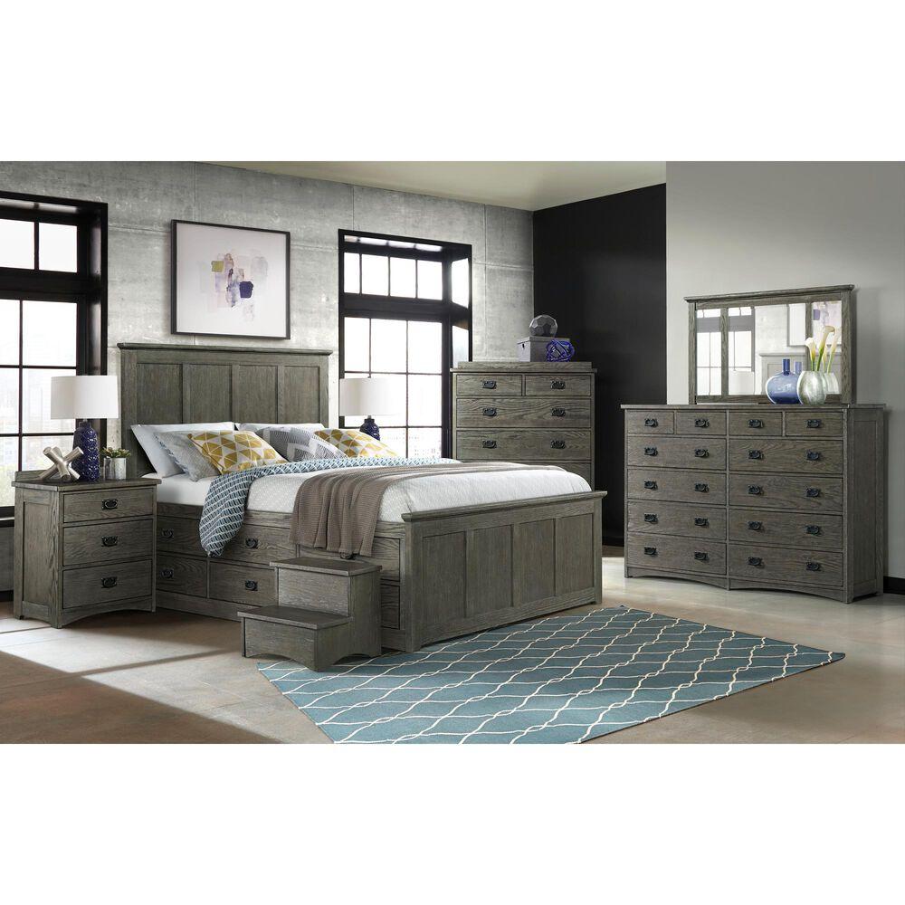 Hawthorne Furniture Oak Park 12 Drawer Dresser in Pewter, , large