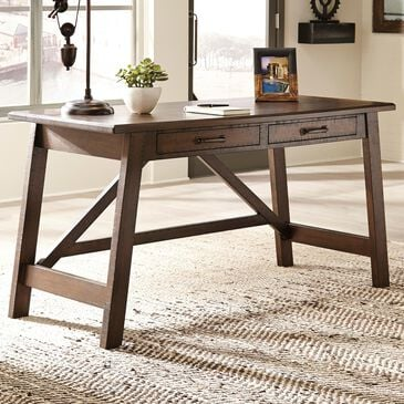 Signature Design by Ashley Baldridge Large Leg Desk in Rustic Brown , , large