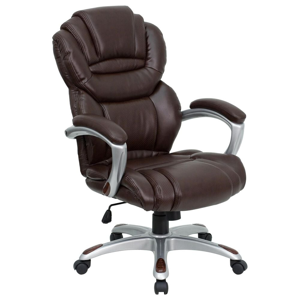 Flash Furniture Executive Swivel Chair in Brown LeatherSoft, , large