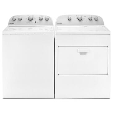 Whirlpool 4.2 Cu. Ft. Top Load Washer and 7.0 Cu. Ft. Electric Dryer Laundry Pair in White, , large