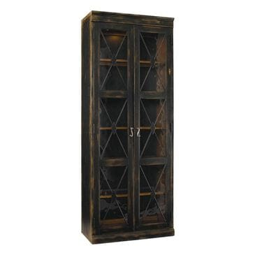 Hooker Furniture Sanctuary Two Door Thin Display Cabinet in Ebony, , large