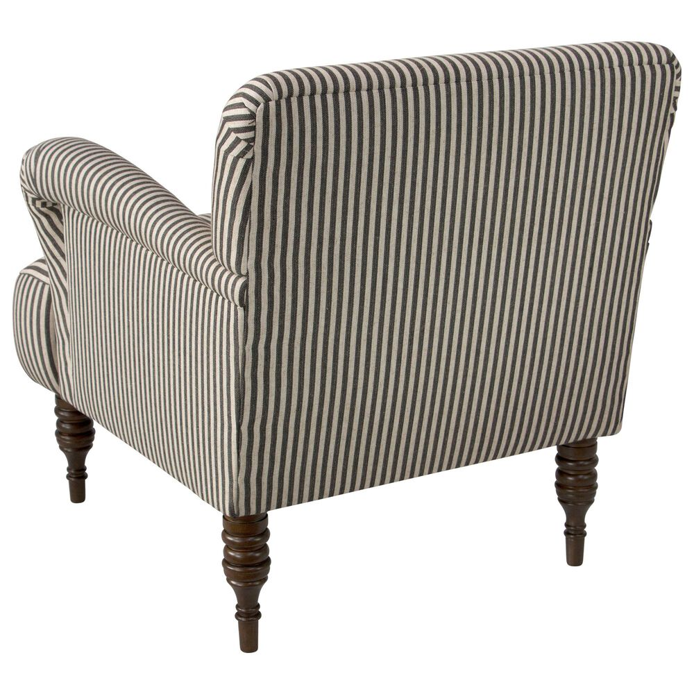 Skyline Furniture Upholstered Chair in Scout Stripe Charcoal, , large