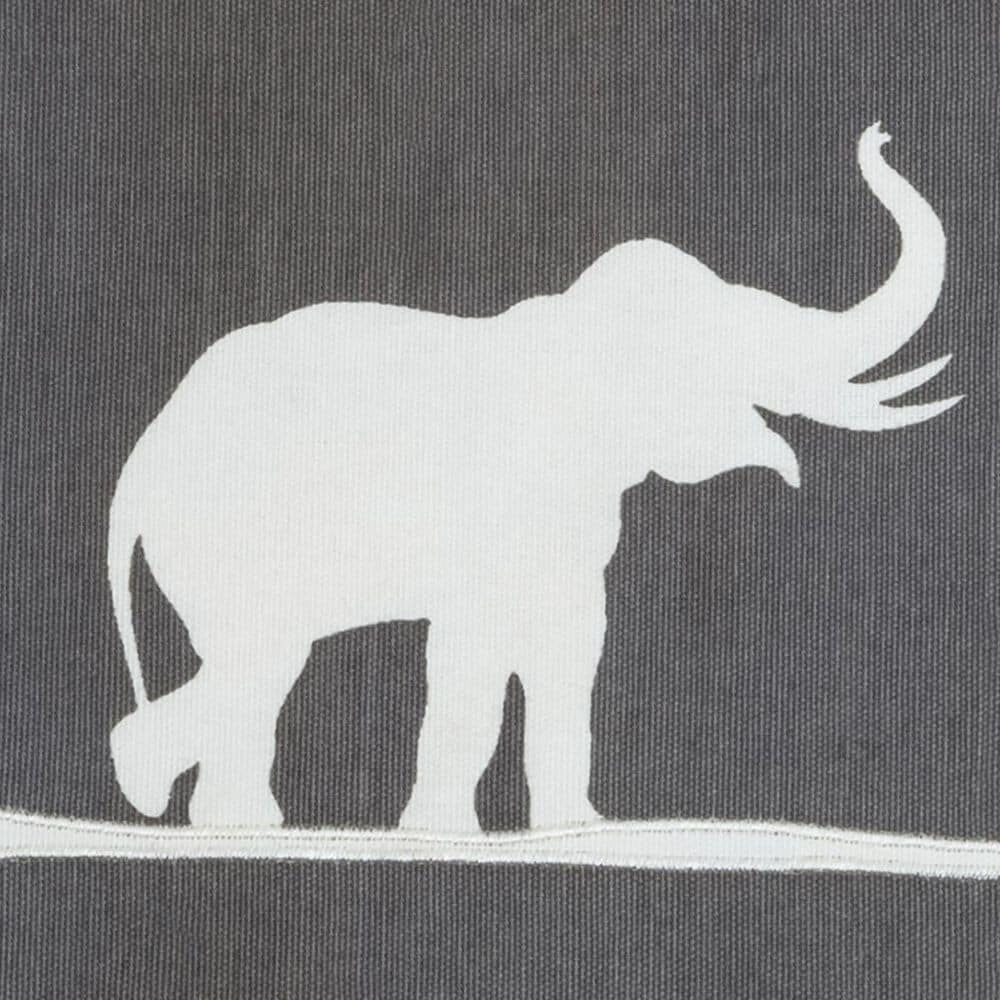 """Rizzy Home 18"""" x 18"""" Pillow Cover in Gray with Elephants, , large"""