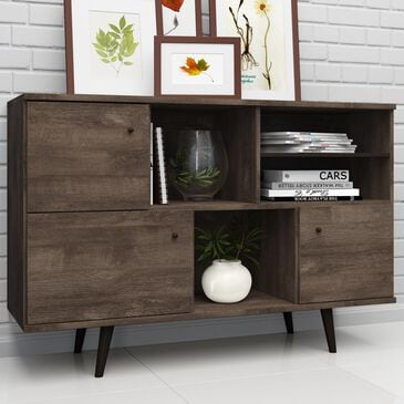 International Home Miami Midtown Concept Sideboard in Distressed Brown, , large