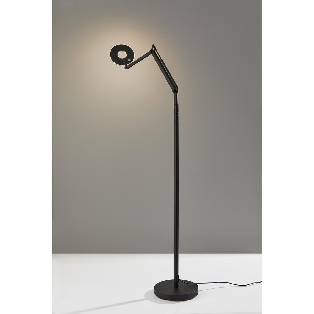 Adesso Gordon LED Floor Lamp in Black, , large