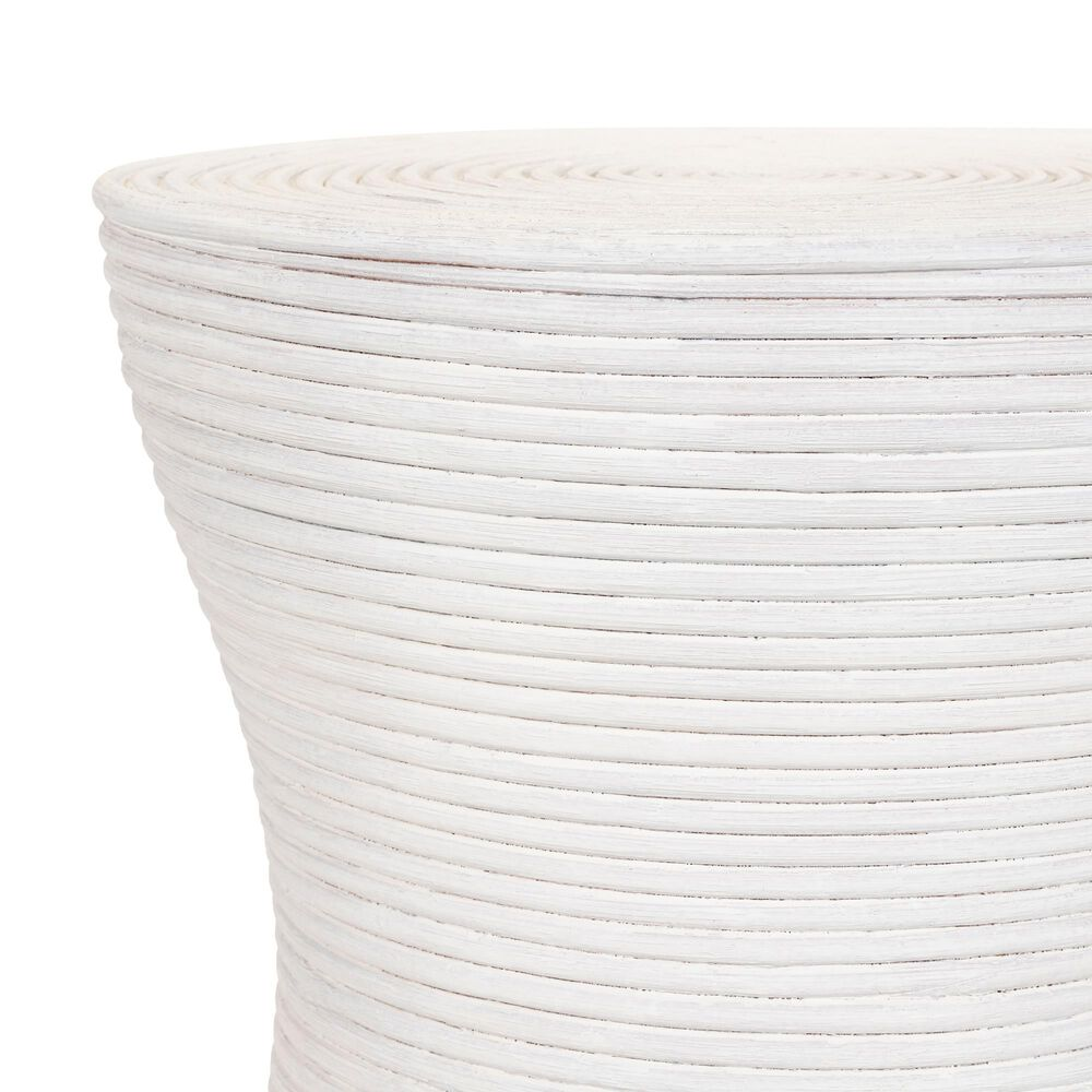 Surya Inc Balinese End Table in White Rattan, , large