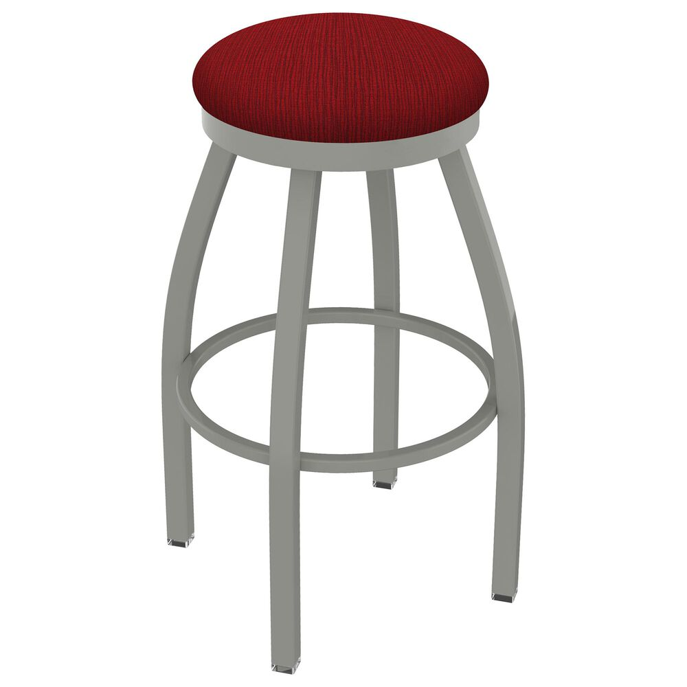 """Holland Bar Stool 802 Misha 25"""" Swivel Counter Stool with Anodized Nickel and Graph Ruby Seat, , large"""