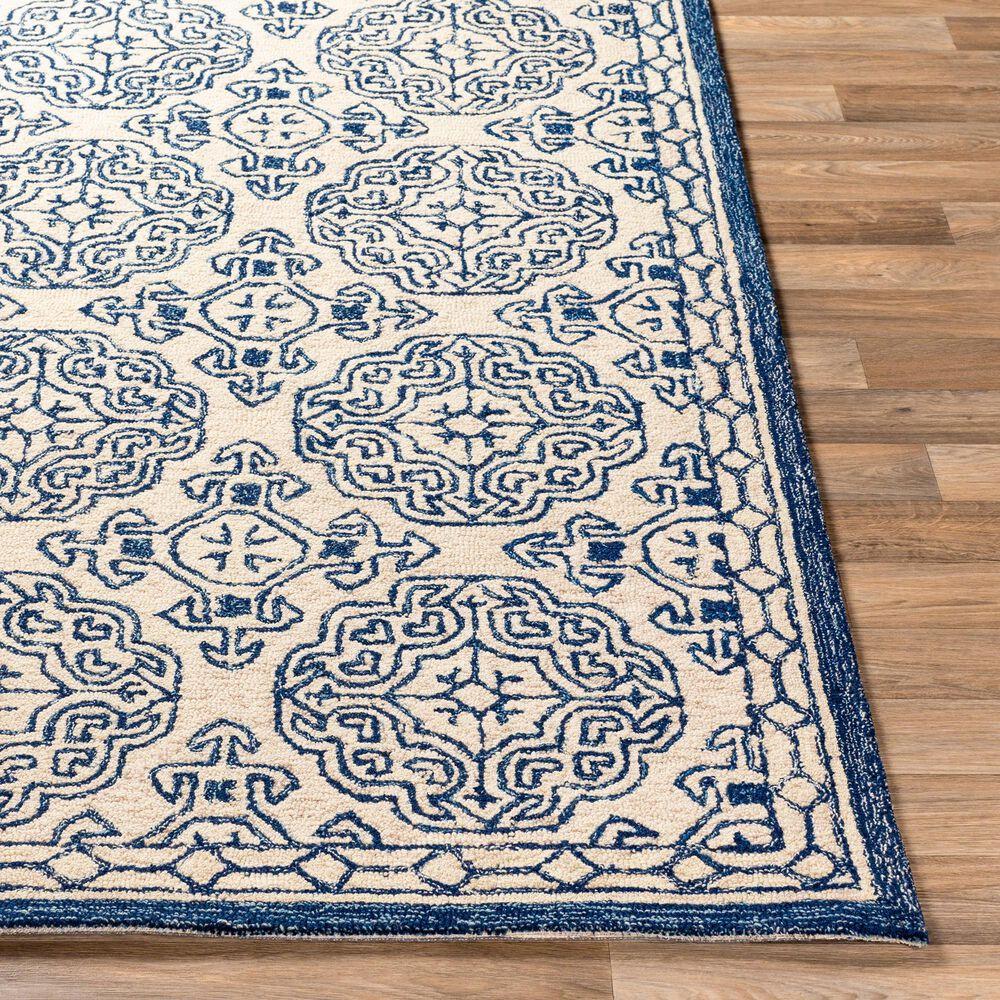 Surya Granada GND-2303 2' x 3' Dark Blue, Denim and Ivory Scatter Rug, , large