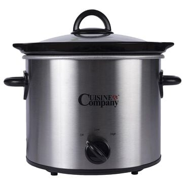 Cuisine & Co 4-Quart Slow Cooker in Stainless Steel, , large