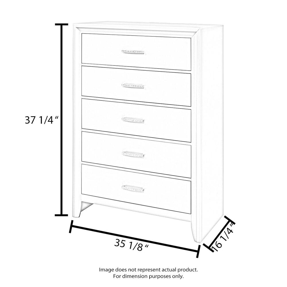 Baxton Studio Harlow 3 Drawer Chest in White and Walnut, , large