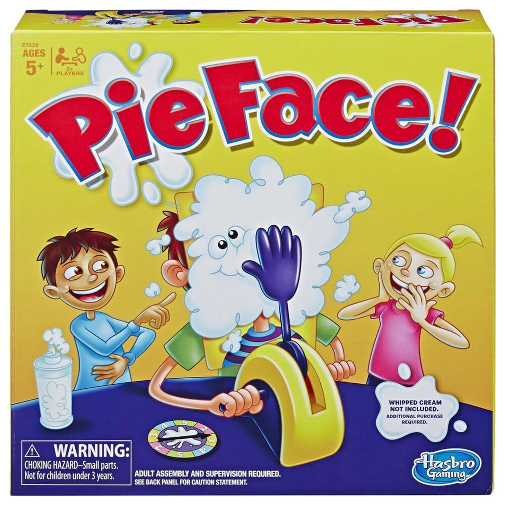 Hasbro Gaming Pie Face Whipped Cream Family Game, , large