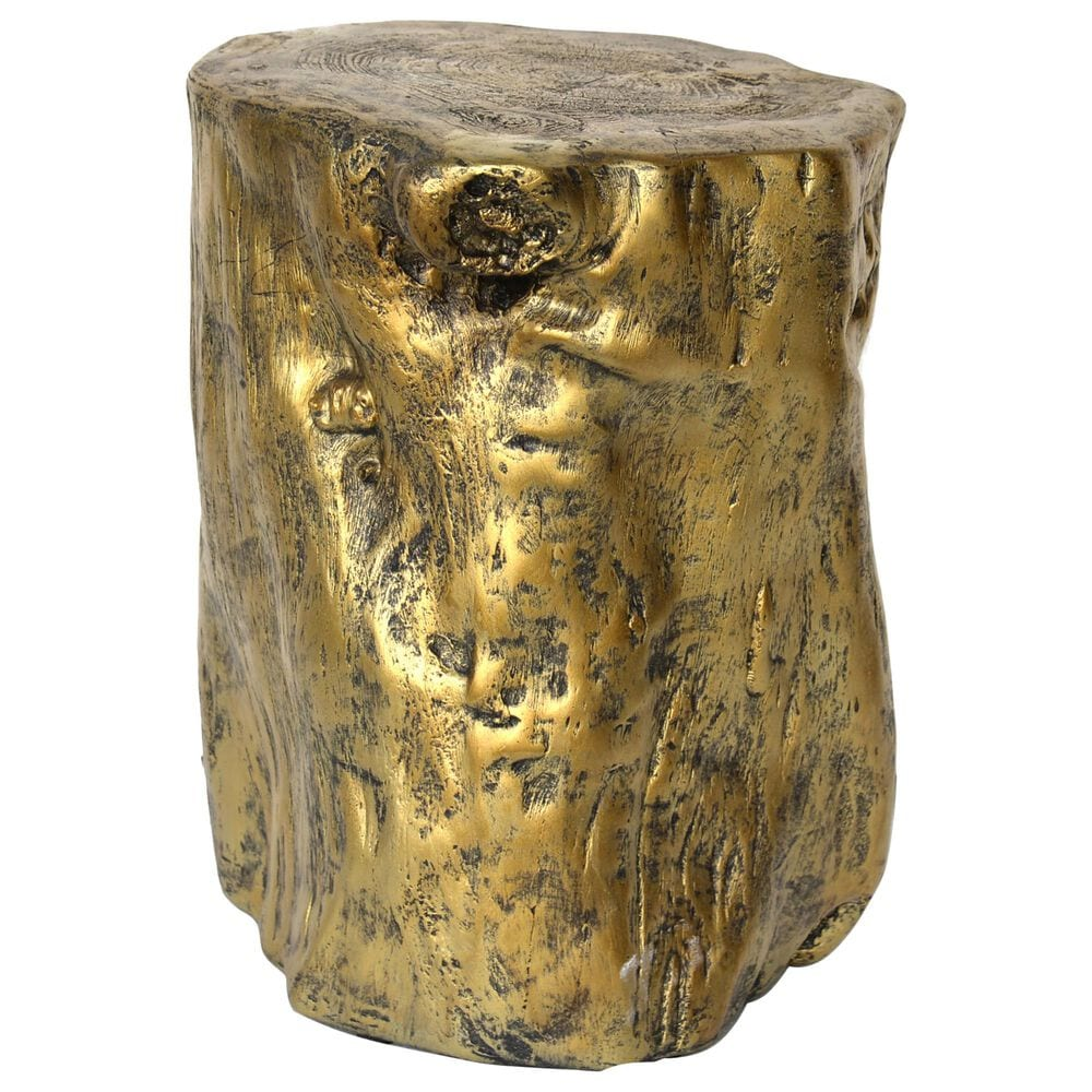 Moe's Home Collection Log Stool in Gold, , large