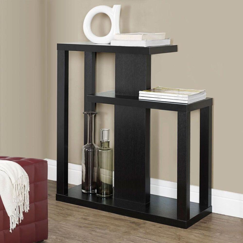 Monarch Specialties 32 in. Hall Console Accent Table in Cappuccino, , large