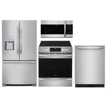 Frigidaire Gallery 4-Piece Kitchen Bundle with Slide In Electric Range in Stainless Steel , , large